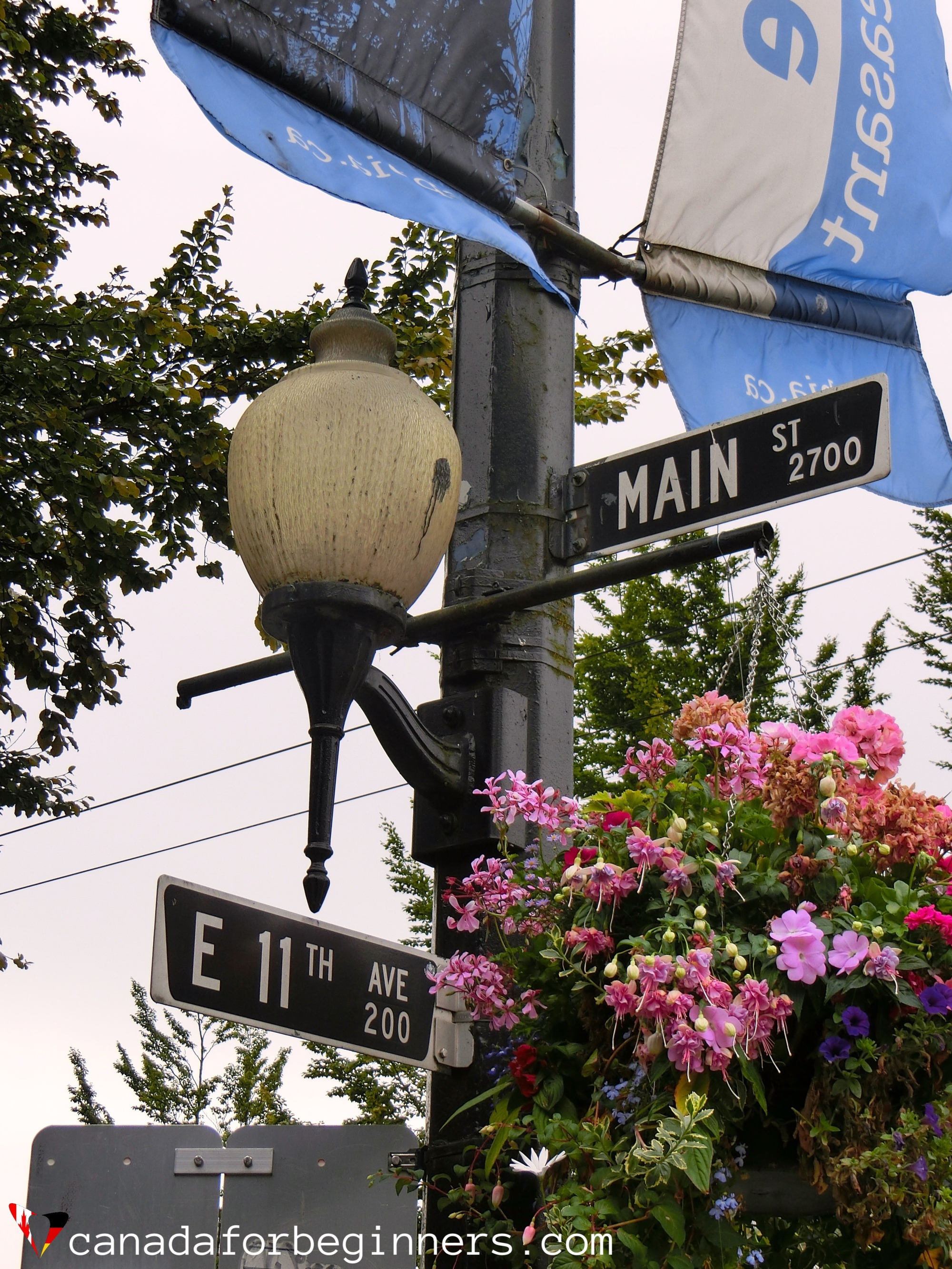 Street sign in Vancouver